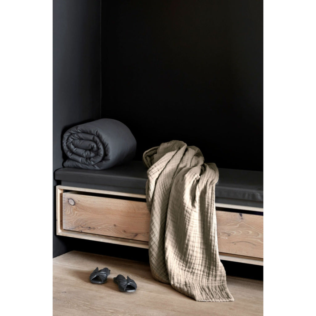 The Organic Company 6-Layer Soft Blanket, Dark Grey Towel The Organic Company