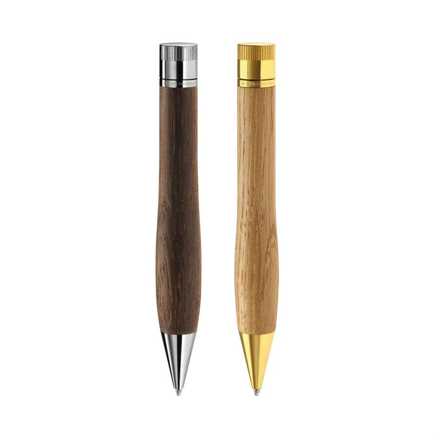 e+m Holzprodukte 'Bow' Wooden Ballpoint Pen Ball Point Pen e+m Holzprodukte
