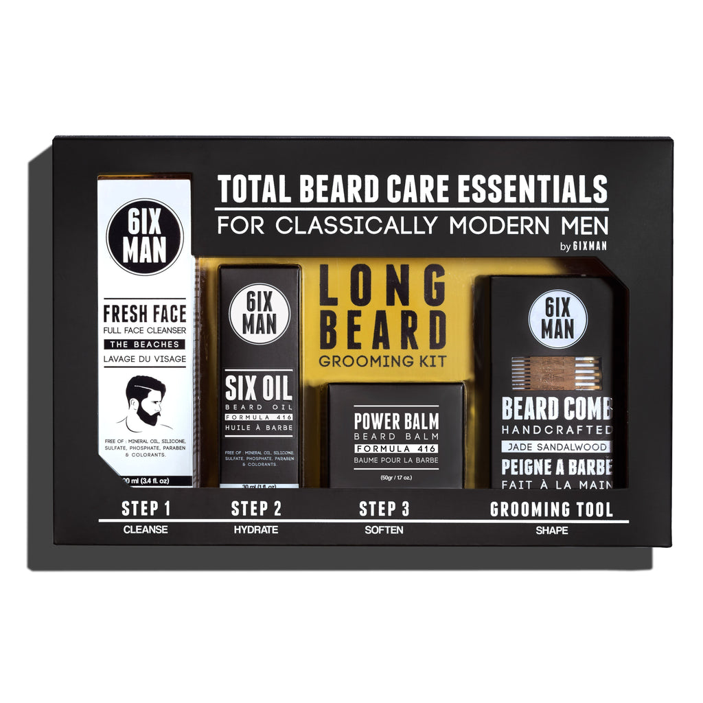 6IXMAN Beard Grooming Kit, The Essentials Beard and Moustache Grooming 6IXMAN Comb