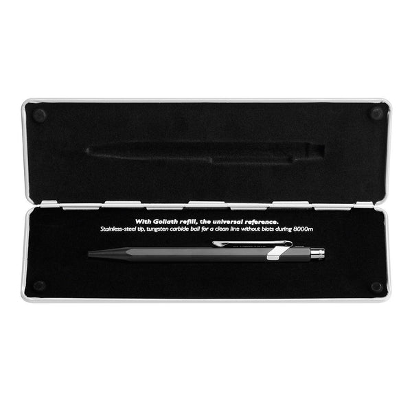 Caran d'Ache Popline Black Matte Ballpoint Pen with Holder - Fendrihan Canada - 5