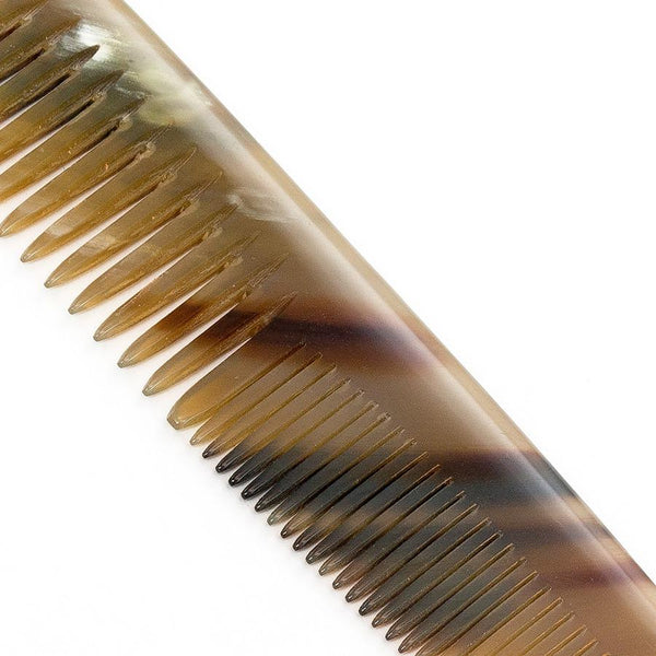 Abbeyhorn Ox Horn Double-Tooth 150mm Pocket Comb - Fendrihan Canada - 5