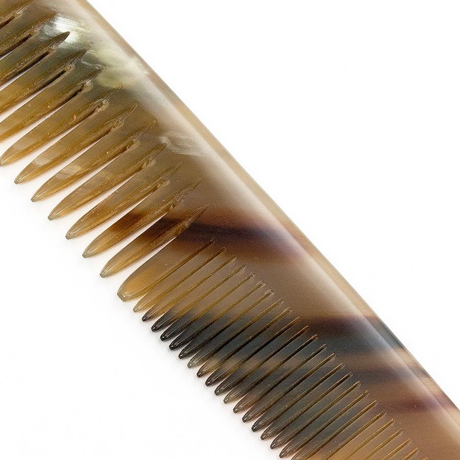 Abbeyhorn Ox Horn Double-Tooth 150mm Pocket Comb Comb Abbeyhorn