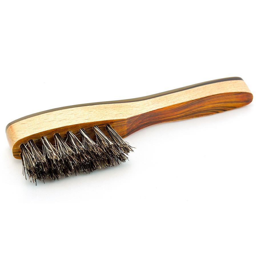Cyril R Salter Wood, Bristle and Natural Horn Beard Brush by Abbeyhorn - Fendrihan Canada - 2
