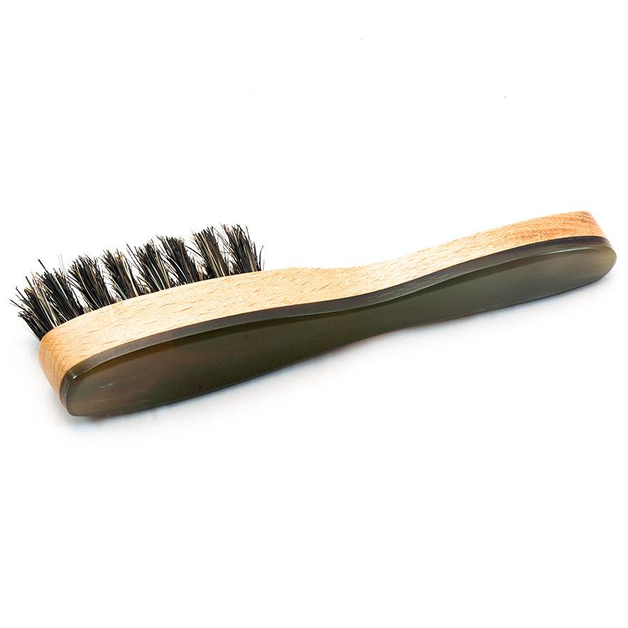 Cyril R Salter Wood, Bristle and Natural Horn Beard Brush by Abbeyhorn - Fendrihan Canada - 3