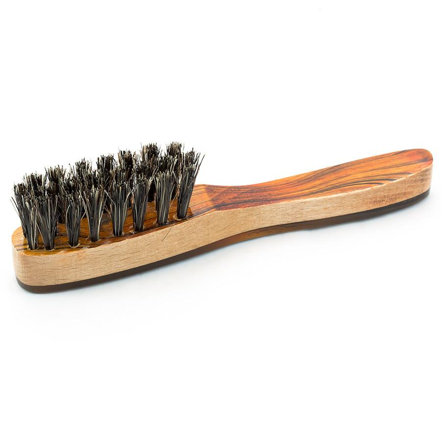 Cyril R Salter Wood, Bristle and Natural Horn Beard Brush by Abbeyhorn - Fendrihan Canada - 1
