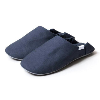 ABE Canvas Home Shoes, Grey Spa Slippers Japanese Exclusives