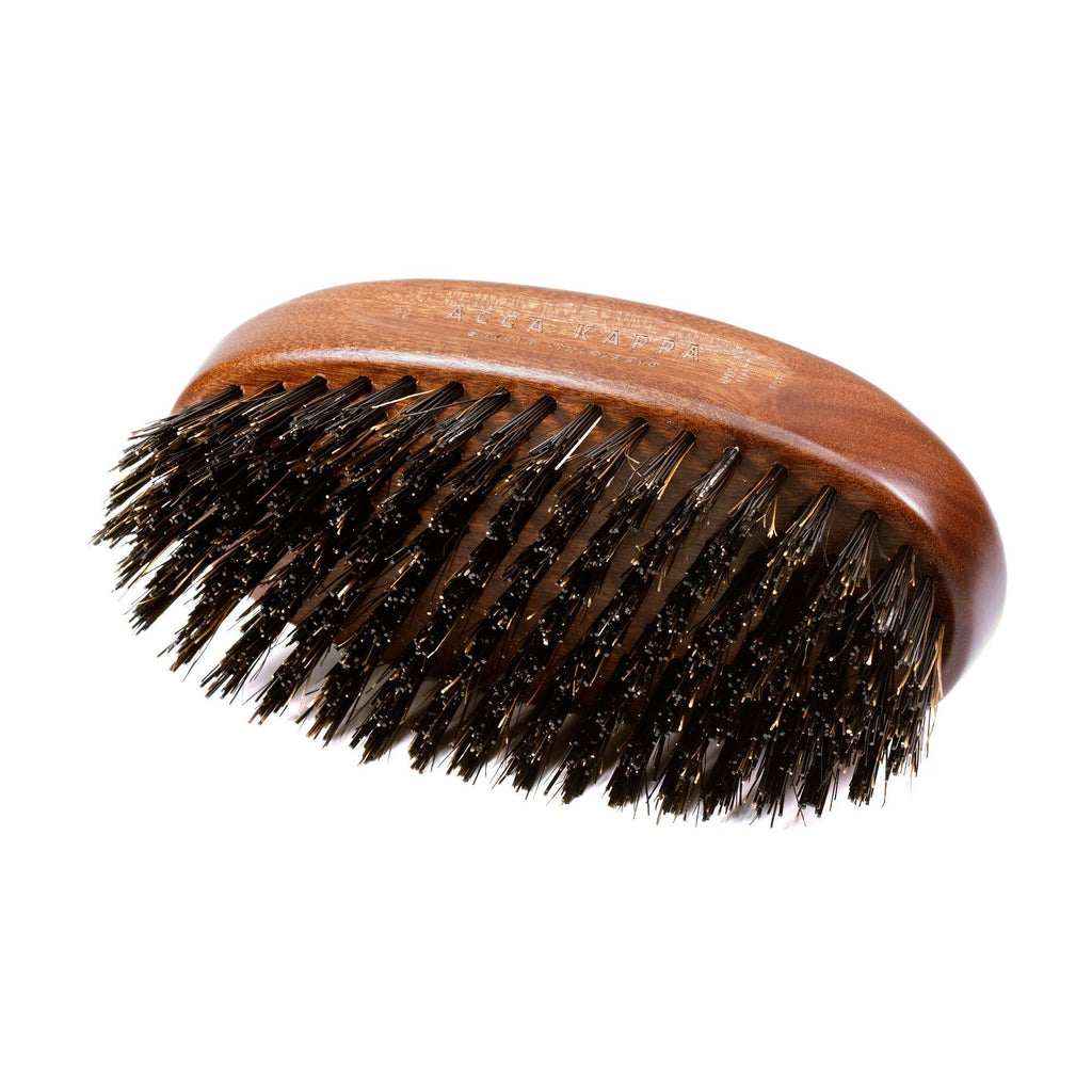 Acca Kappa Military Style Hair Brush, Kotibe Wood and Black Boar Bristles Hair Brush Acca Kappa