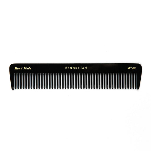 Fendrihan Hand-Finished Fine-Tooth Pocket Comb, Black