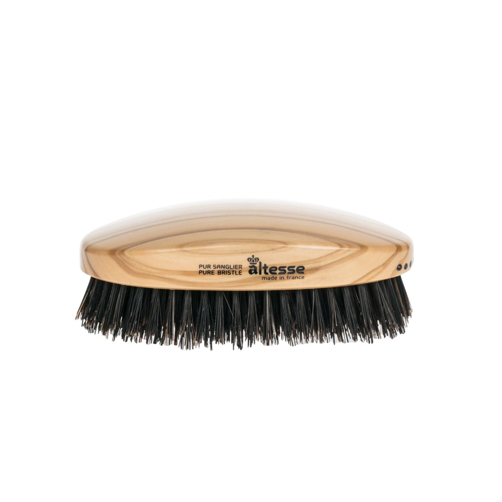 Altesse Handmade Pure Bristle Military Hairbrush, Olivewood