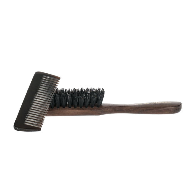 Altesse Pure Bristle Beard Brush and Horn Beard Comb Set