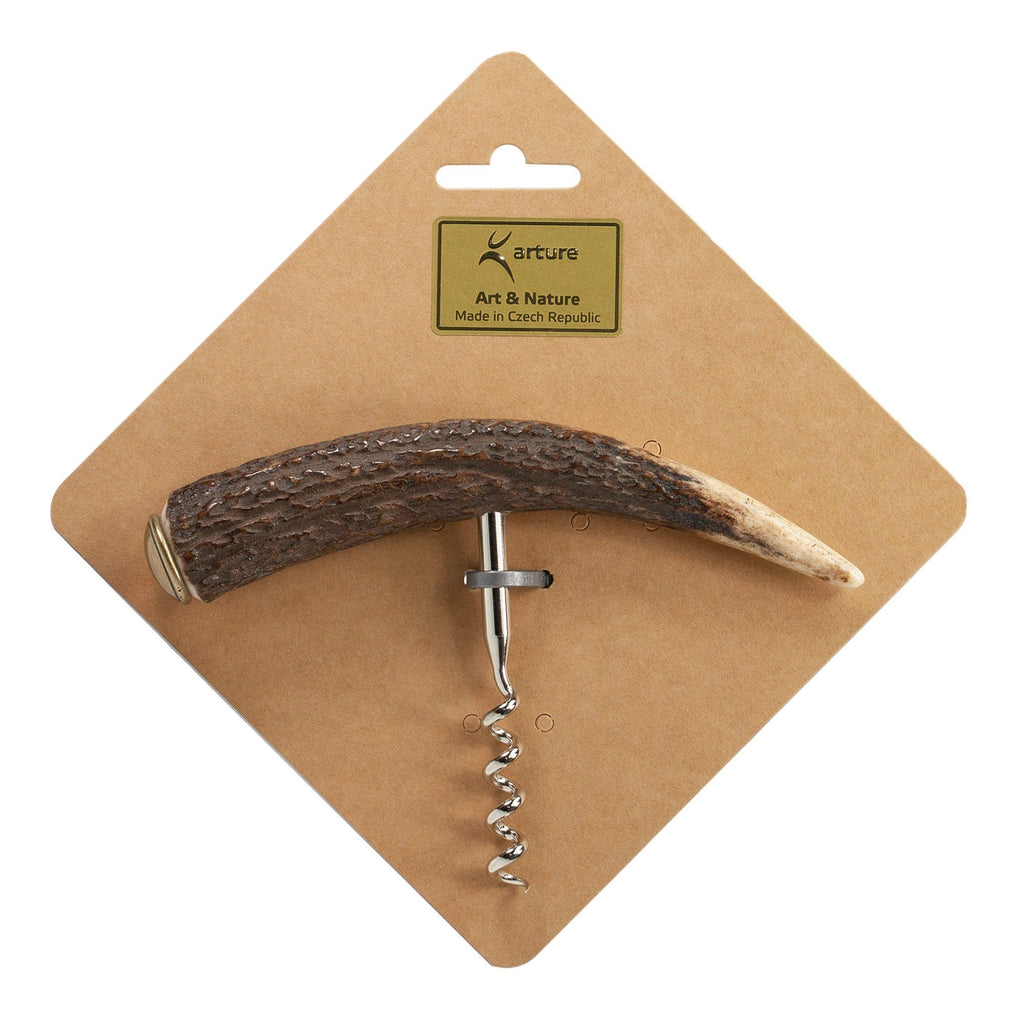 Arture Art & Nature Corkscrew with Stag Antler Handle Corkscrew Arture Art & Nature