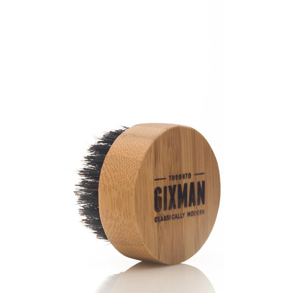 6IXMAN Bamboo & Boar Beard Brush in Tin