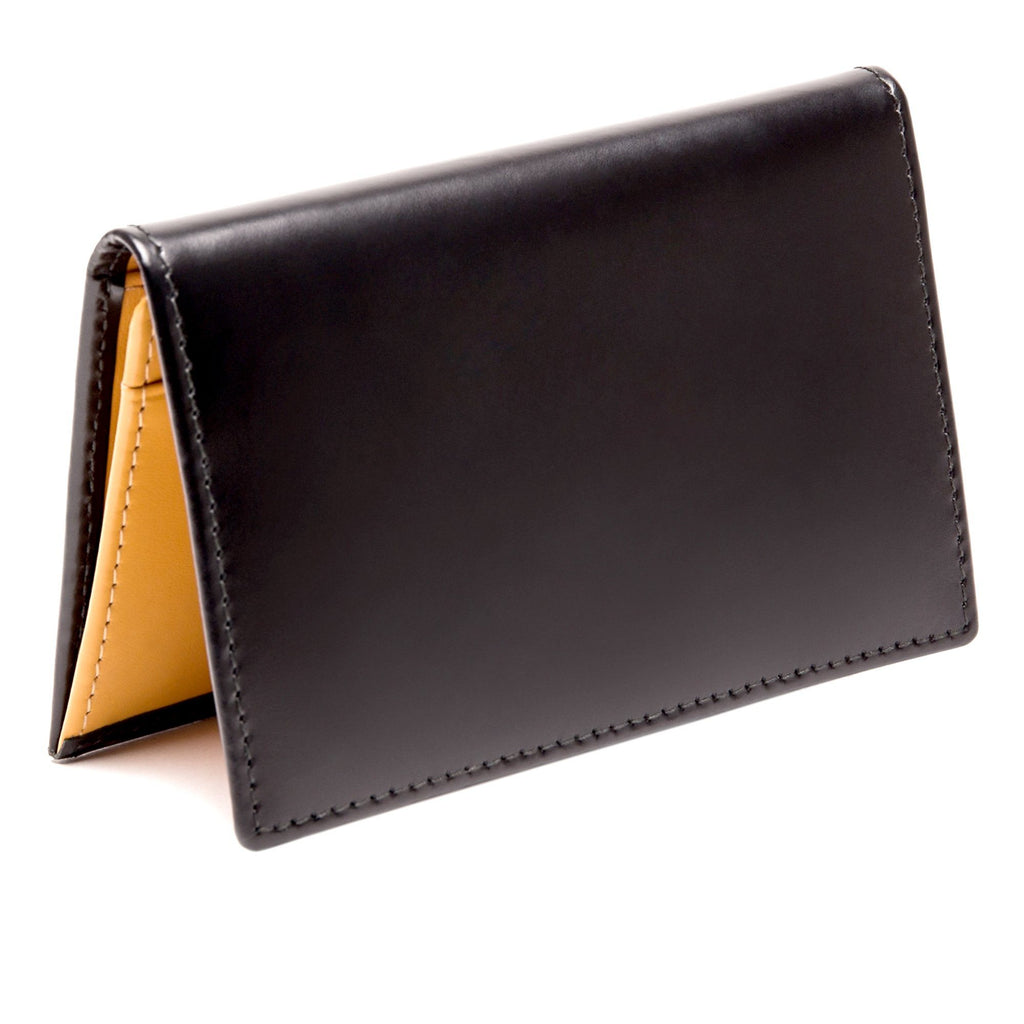 Ettinger Bridle Hide Business Card Case Leather Wallet Ettinger Black
