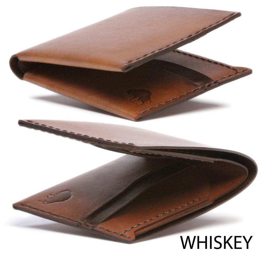 Bison No. 6 Wallet in Choice of Chromexcel Leather or English Bridle Leather - Fendrihan Canada - 4