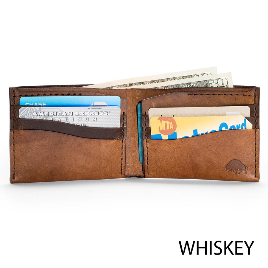 Ezra Arthur No. 8 Wallet in Choice of Chromexcel Leather or English Bridle Leather Leather Wallet Ezra Arthur Whiskey