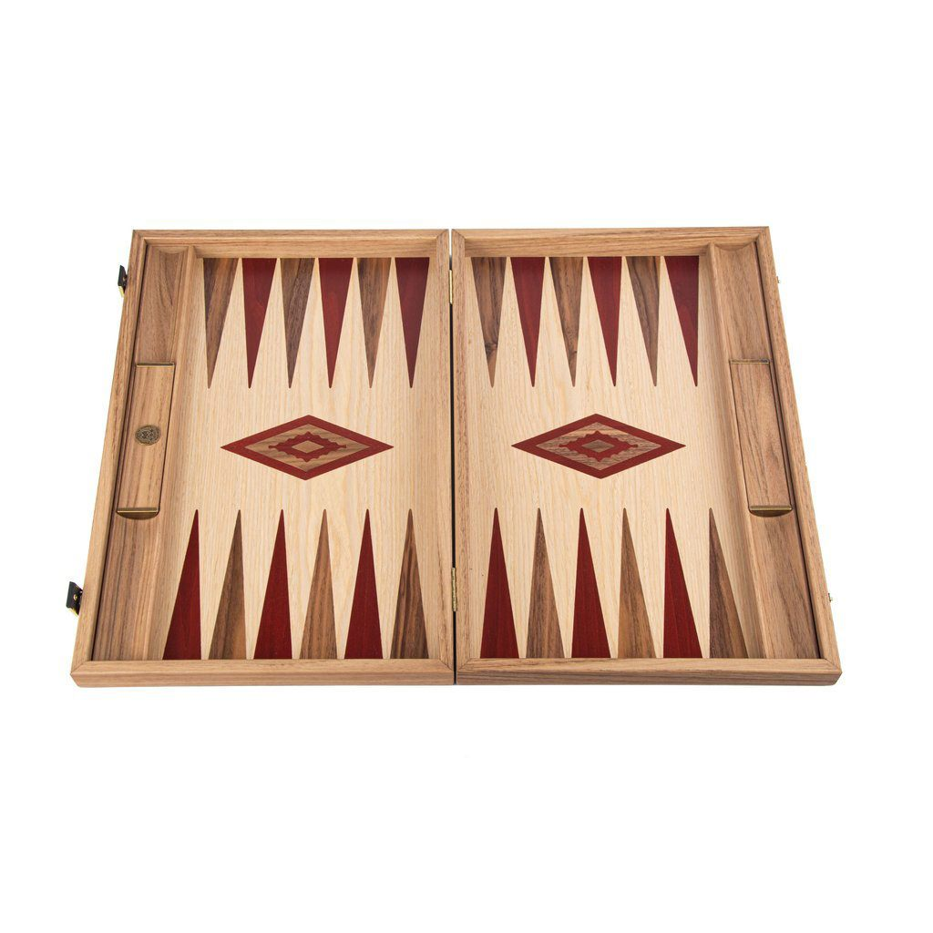 Manopoulos Handmade Classic Backgammon Set Board Game Manopoulos
