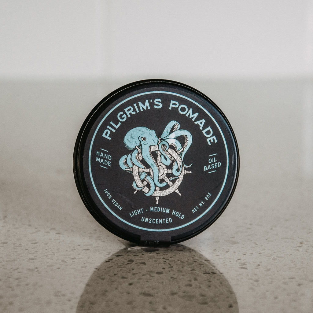 Brooklyn Grooming Pilgrim's Vegan Pomade, Unscented Hair Pomade Brooklyn Grooming Co