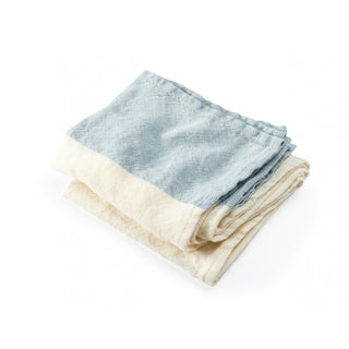 "Brahms Mount Caribou Linen Towels Towel Brahms Mount Light Indigo Bath Towel (30"" x 56"")"