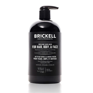 Brickell All in One Wash for Men Men's Body Wash Brickell Fresh Mint