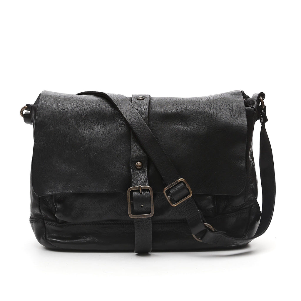 Campomaggi C6520 Crossbody Leather Bag, Black
