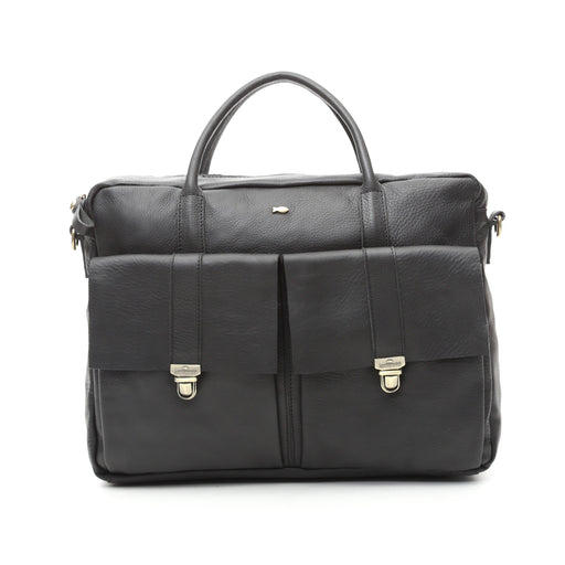 Campomaggi C1042 Leather Professional Bag, Black