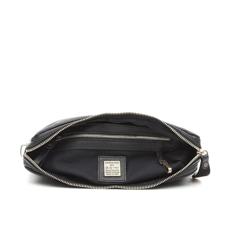 Campomaggi C1082 Flat Leather Pouch, Black