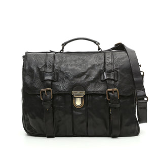 Campomaggi Messenger Bag, Black Leather Messenger Bag Campomaggi