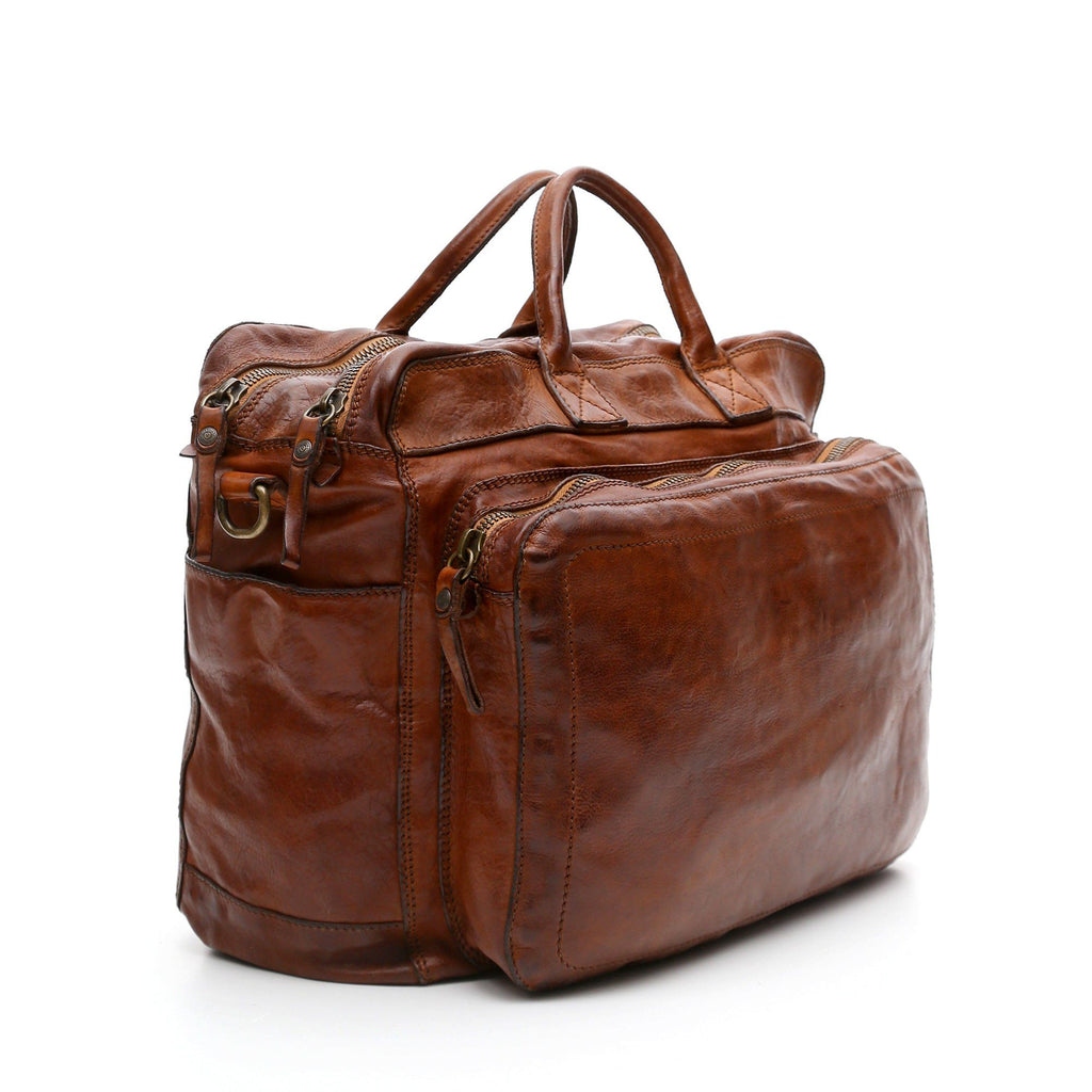 Campomaggi Leather Briefcase, Cognac Leather Briefcase Campomaggi