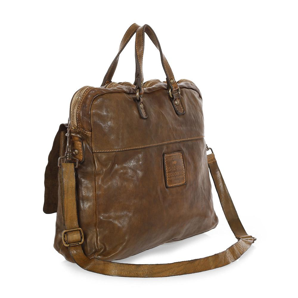 Campomaggi C1800 Leather Carrier Bag, Brown