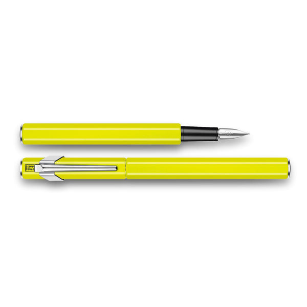 Caran d'Ache 849 Fountain Pen, Yellow Fluo