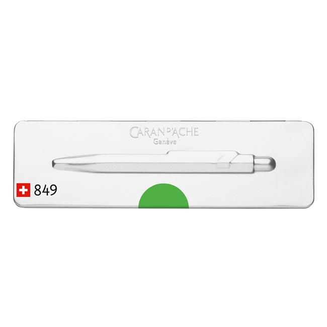 Caran d'Ache 849 POPLINE Ballpoint Pen, Green Fluo Ball Point Pen Caran d'Ache