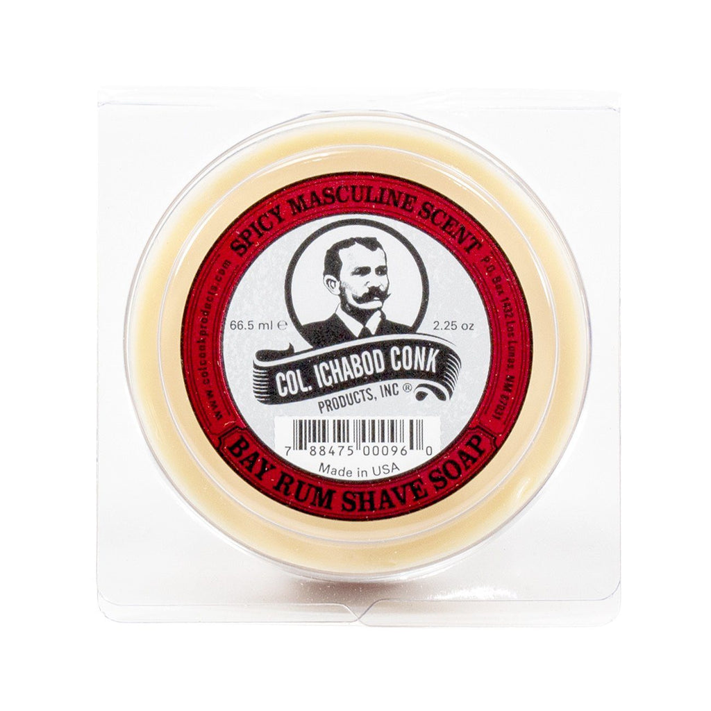 Col. Conk Bay Rum Shaving Soap, Small Shaving Soap Col. Ichabod Conk