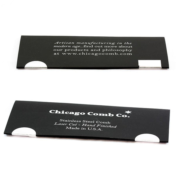 Chicago Comb Co. Model No. 4 Stainless Steel Medium-Fine Tooth Comb - Fendrihan Canada - 5