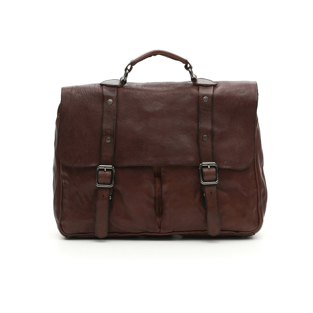 Campomaggi Tokio Leather Professional Carrier Bag Leather Messenger Bag Campomaggi Brown