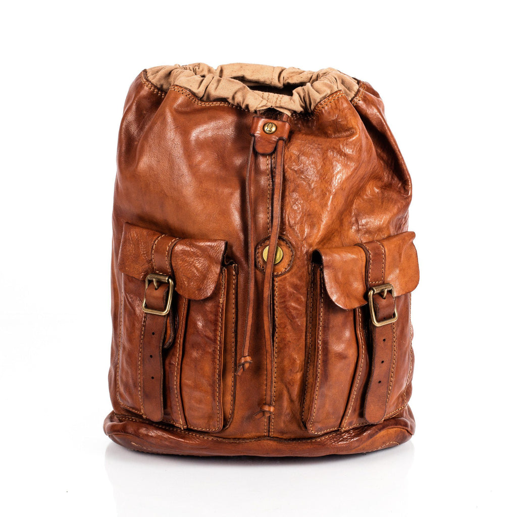 Campomaggi C06005 Leather Backpack, Cognac - Fendrihan Canada - 8