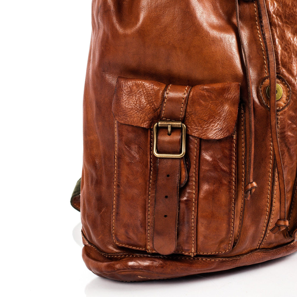 Campomaggi C06005 Leather Backpack, Cognac - Fendrihan Canada - 11