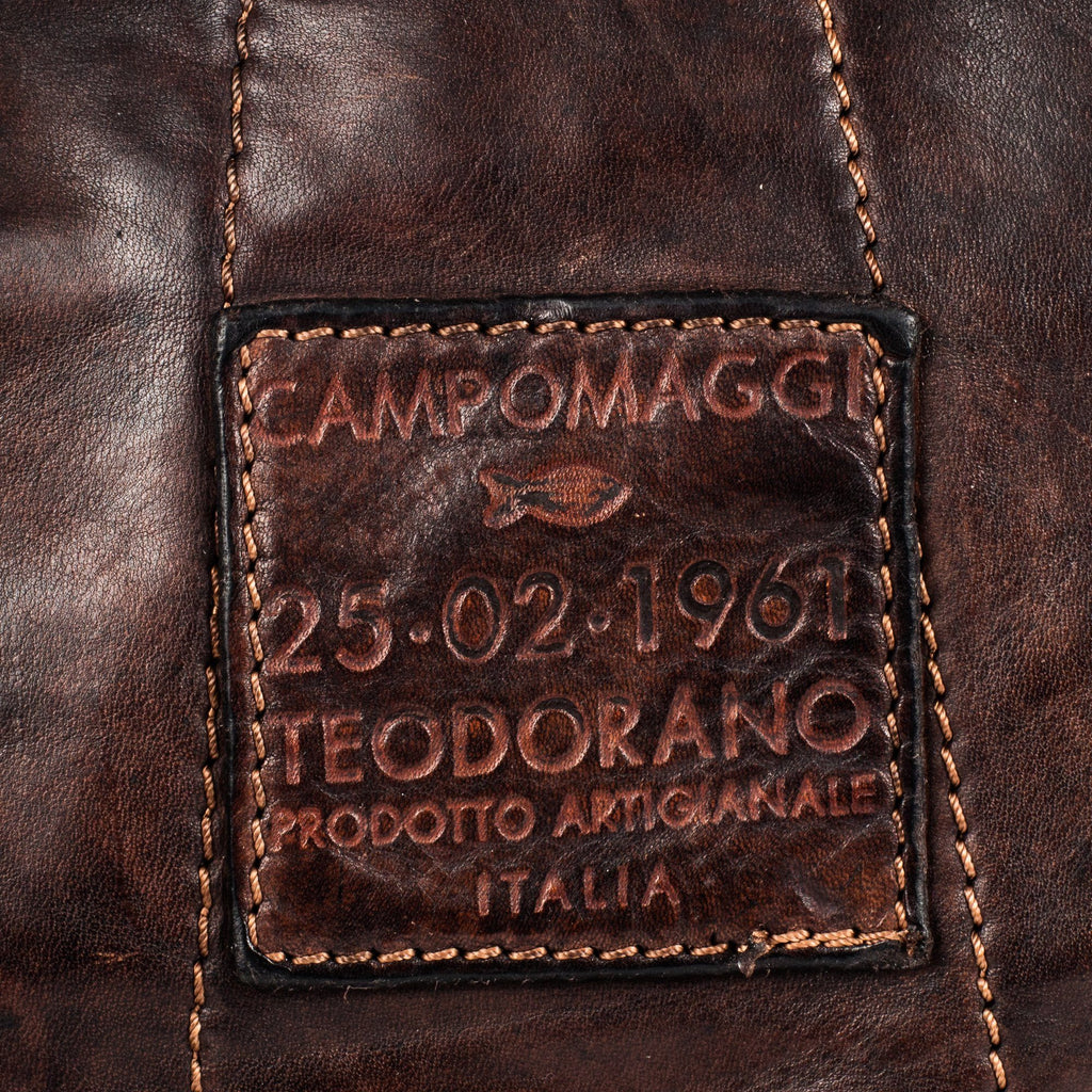 Campomaggi C1880 Leather Backpack, Dark Brown Leather Briefcase Campomaggi