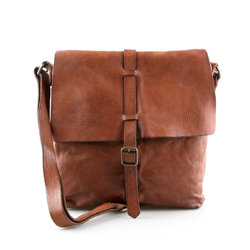 Campomaggi C0920 Italian Leather Shoulder Bag, Cognac