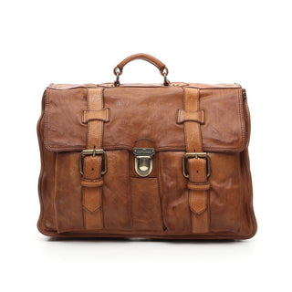 Campomaggi C1790 Messenger Bag, Cognac Leather Messenger Bag Campomaggi
