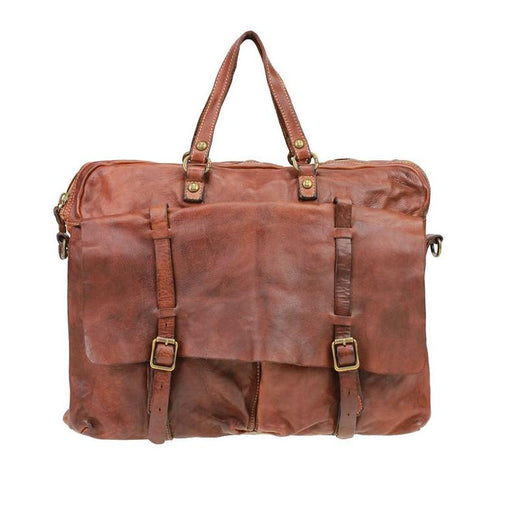 Campomaggi C1800 Leather Carrier Bag, Cognac