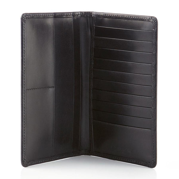Daines & Hathaway Bridle Hide Tall Wallet, Black - Fendrihan Canada - 1