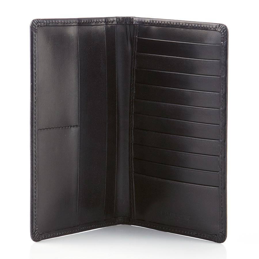 Daines & Hathaway Bridle Hide Tall Wallet Leather Wallet Daines & Hathaway Black