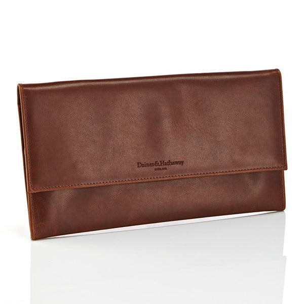 Daines & Hathaway Travel Wallet, Rusty Blaze Brooklyn Leather - Fendrihan Canada - 2
