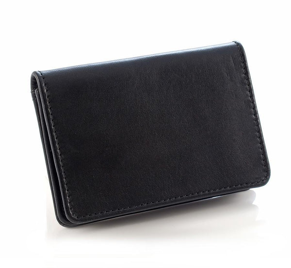 Daines & Hathaway Bridle Hide Business Card Case, Black - Fendrihan Canada - 2