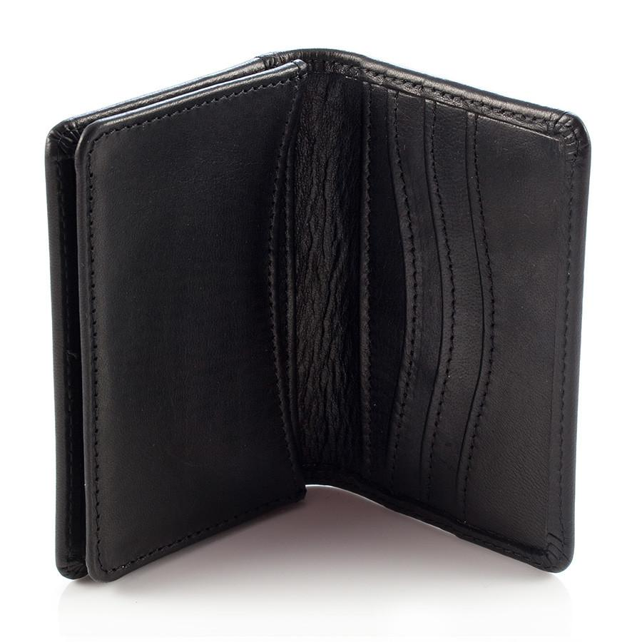 Daines & Hathaway Bridle Hide Business Card Case, Black - Fendrihan ...