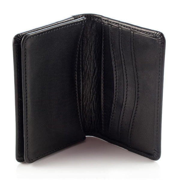 Daines & Hathaway Bridle Hide Business Card Case, Black - Fendrihan Canada - 1