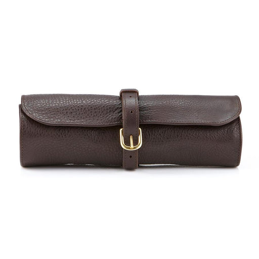 Daines & Hathaway Utility Roll, Krypton Brown Leather with Orange Canvas Lining - Fendrihan Canada - 1