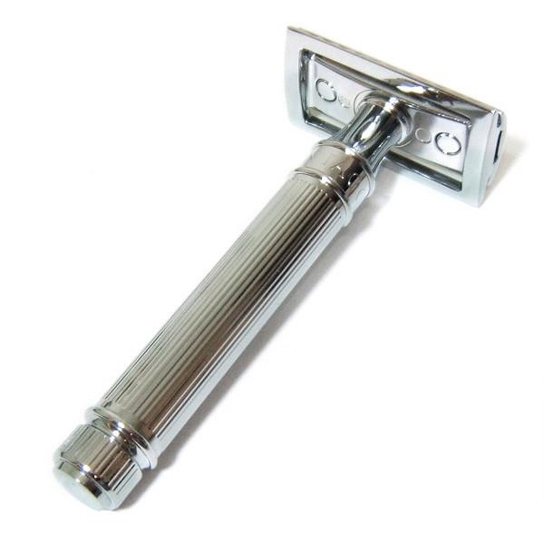 Edwin Jagger DE89L Classic Double-Edge Safety Razor, Lined Chrome Plating - Fendrihan Canada - 4