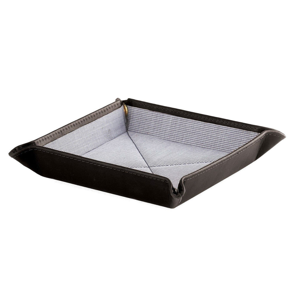 Daines & Hathaway Travel Tray, Black Bridle Leather Travel Tray Daines & Hathaway