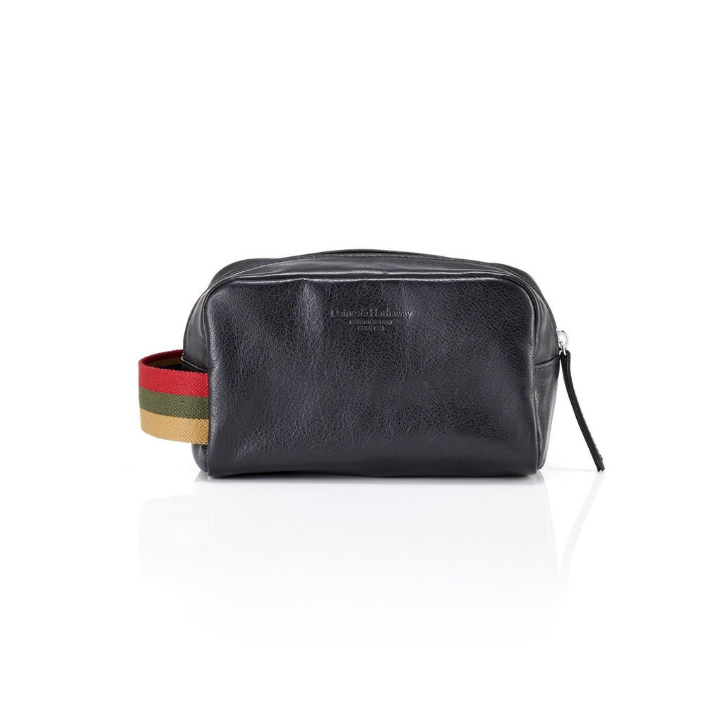 Daines & Hathaway Dopp Kit, Finsbury Leather Grooming Travel Case Daines & Hathaway Black